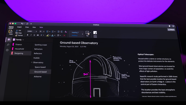 onenote dark mode video